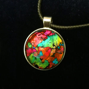 Coat of Many Colors Sun Catcher Pendant by Tara Riley